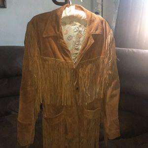 Vintage unisex leather coat